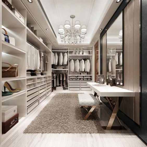 White & Gold Closet